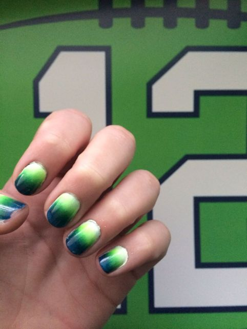 Seahawks nails design 46
