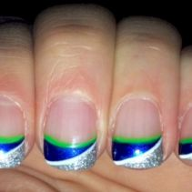 Seahawks nails design 64