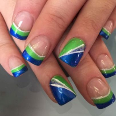 Seahawks nails design 68