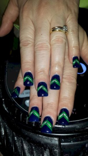 Seahawks nails design 70