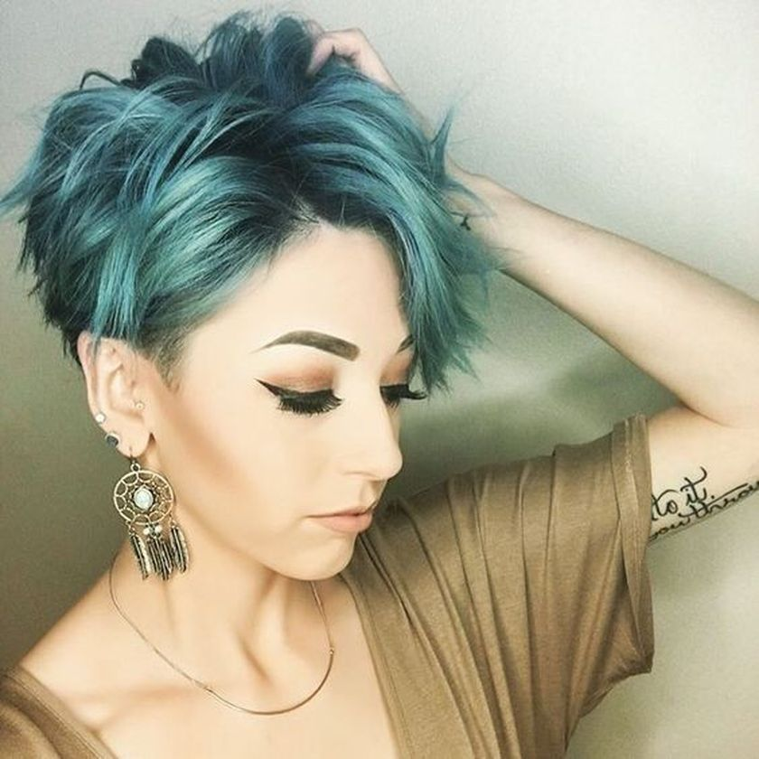 Short messy pixie haircut hairstyle ideas 48