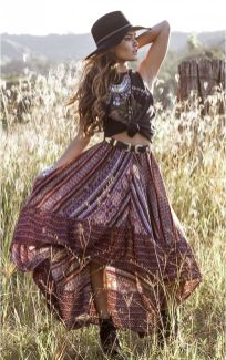 Stylish bohemian boho chic outfits style ideas 10