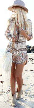 Stylish bohemian boho chic outfits style ideas 114