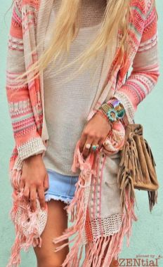 Stylish bohemian boho chic outfits style ideas 116