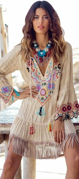 Stylish bohemian boho chic outfits style ideas 2