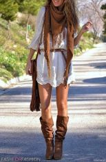 Stylish bohemian boho chic outfits style ideas 29