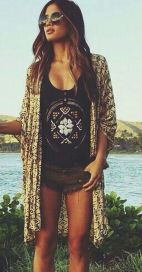 Stylish bohemian boho chic outfits style ideas 42