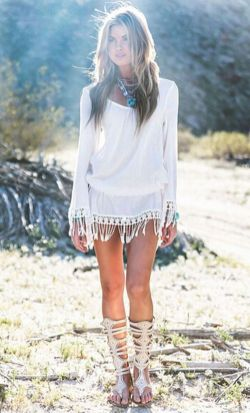 Stylish bohemian boho chic outfits style ideas 79