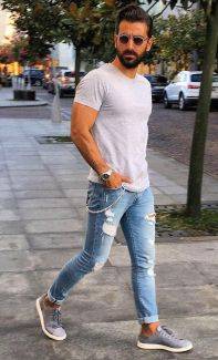 Stylish men's jeans outfits ideas in 2017 28