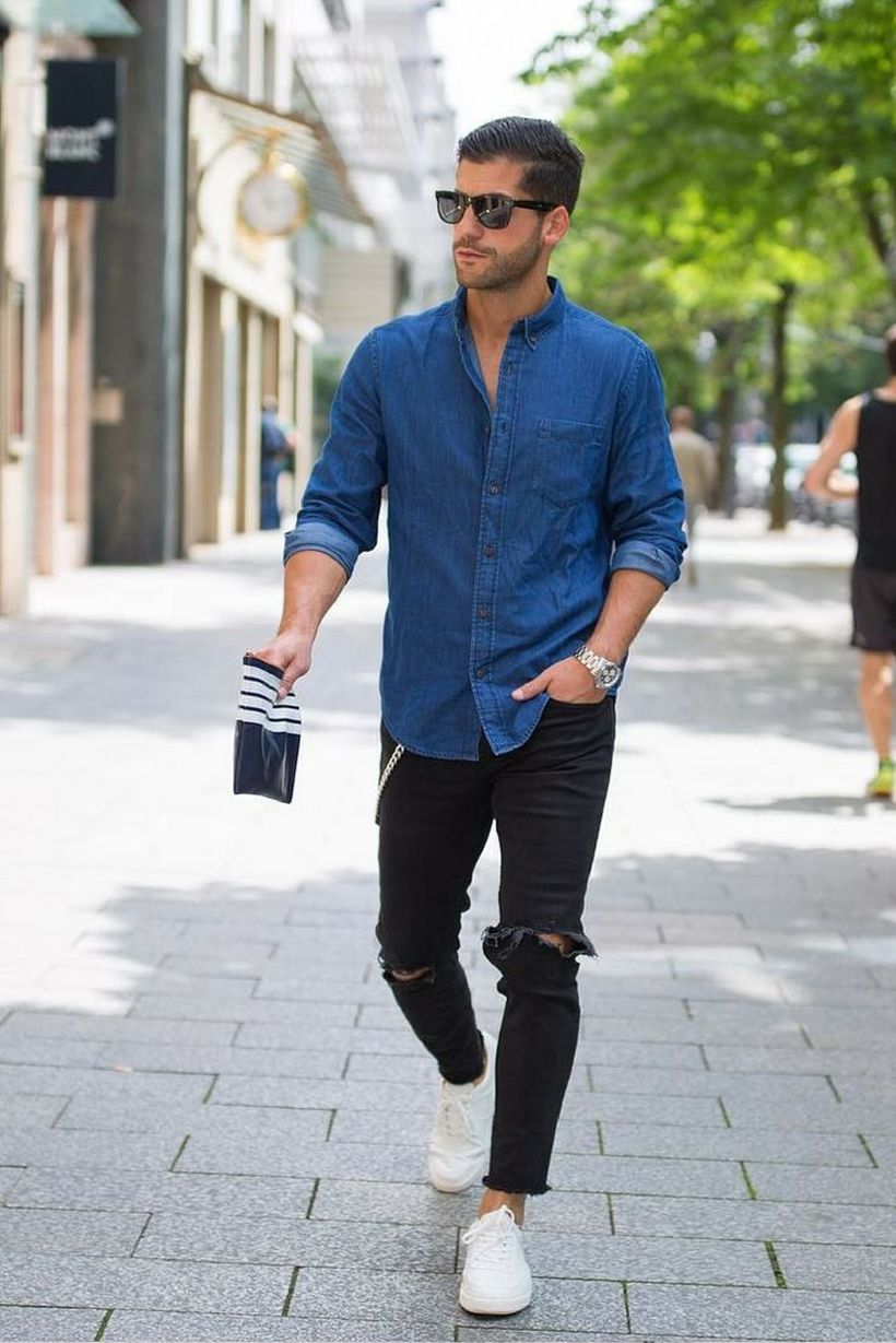 Stylish men's jeans outfits ideas in 2017 57