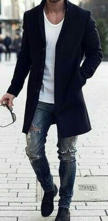 Stylish men's jeans outfits ideas in 2017 74