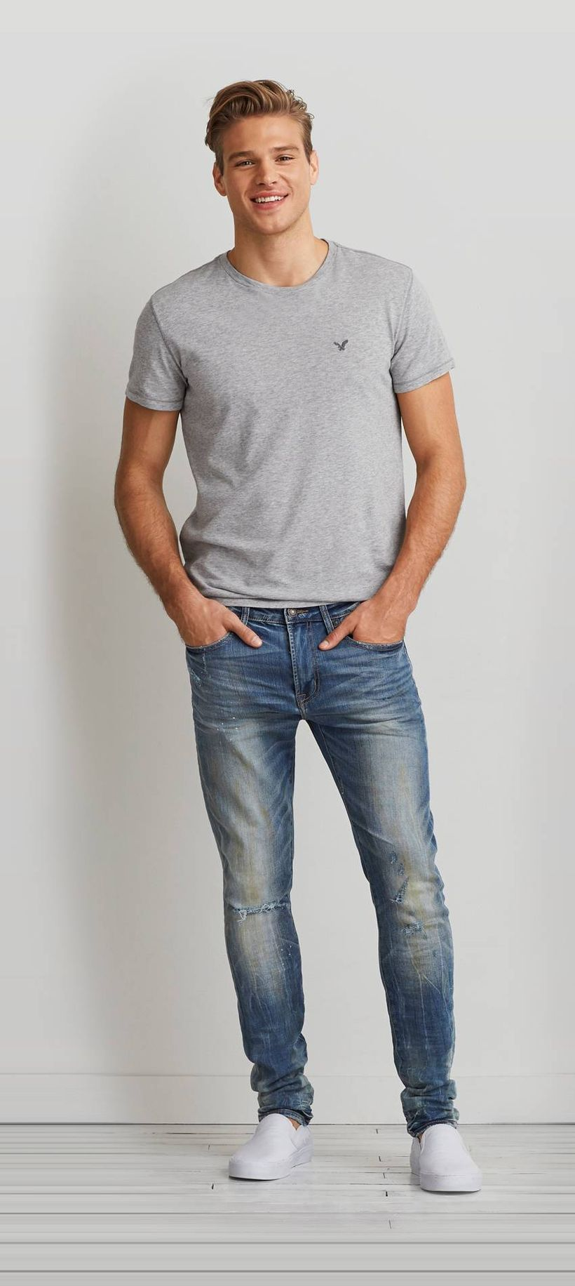 Stylish men's jeans outfits ideas in 2017 78