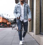 Stylish men's jeans outfits ideas in 2017 89