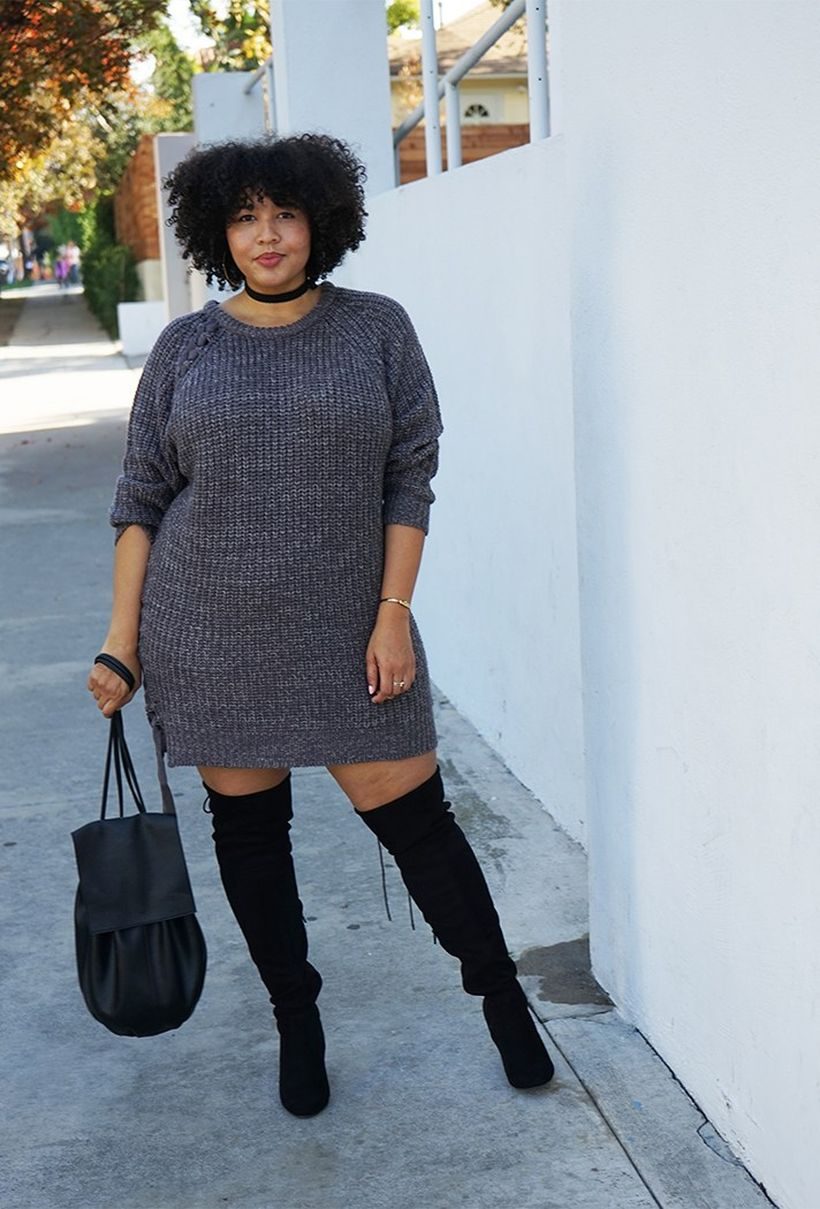 Stylish plus size outfits for winter 2017 85