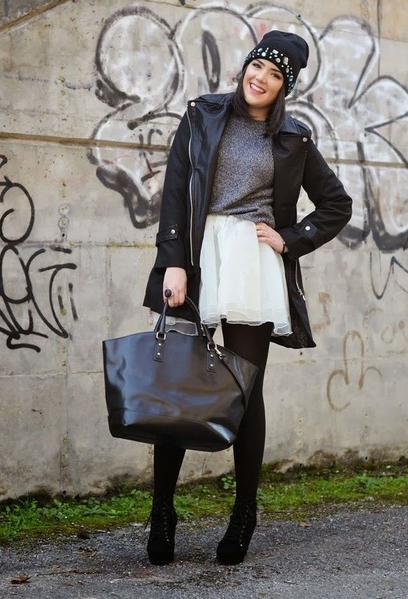 Stylish plus size outfits for winter 2017 94