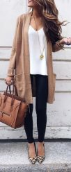 Tips how to wear cardigans and leggings in this fall 102