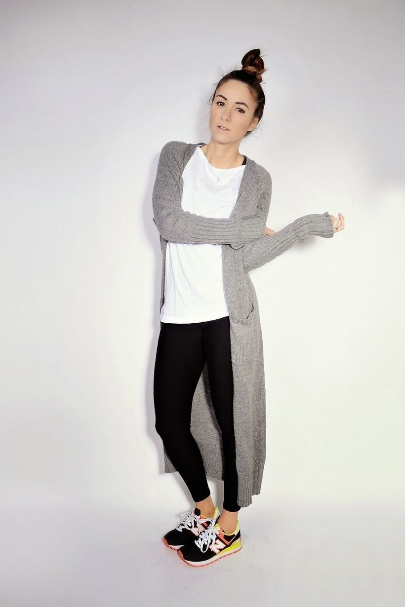 Tips how to wear cardigans and leggings in this fall 31