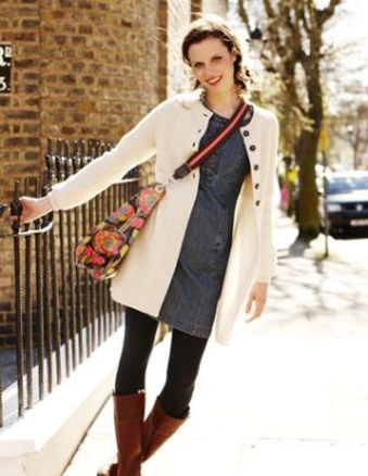 Tips how to wear cardigans and leggings in this fall 61