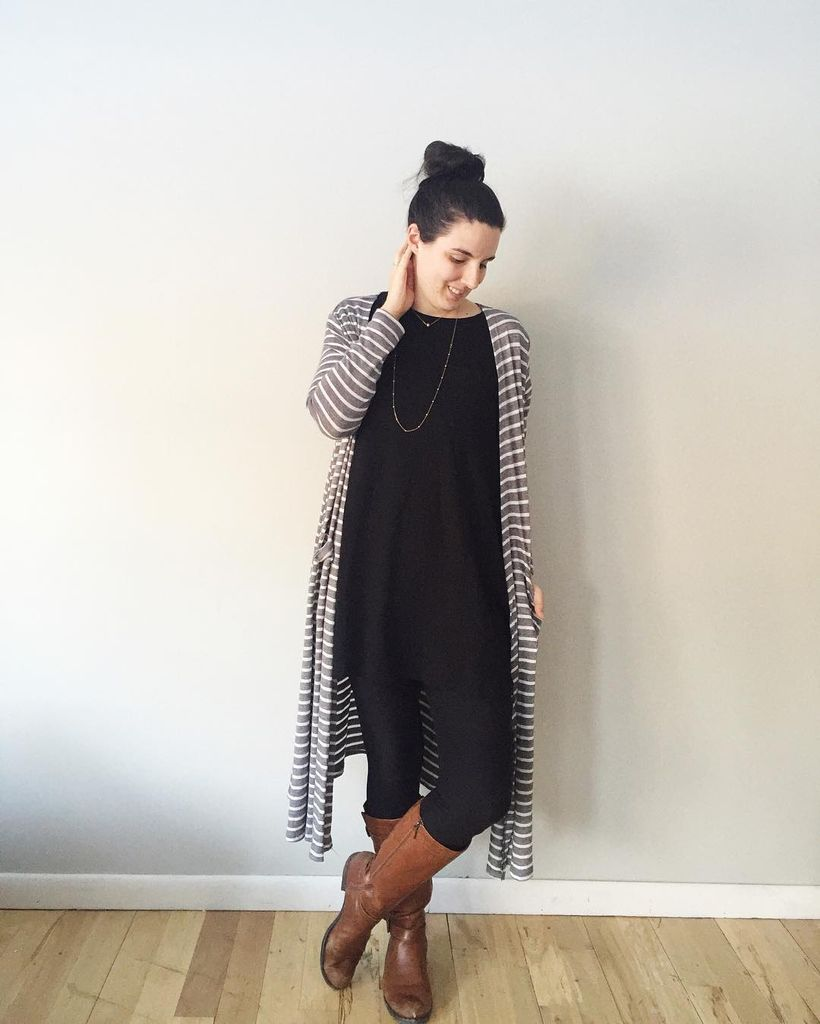 Tips how to wear cardigans and leggings in this fall 67