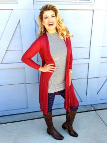Tips how to wear cardigans and leggings in this fall 80