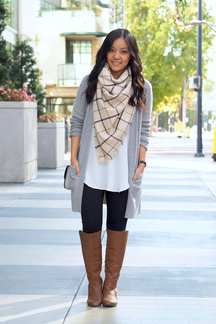 Tips how to wear cardigans and leggings in this fall 98