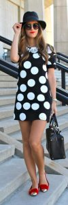 Polkadot short dress 44