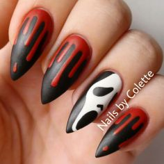 Halloween nails that you must try at halloween party 15