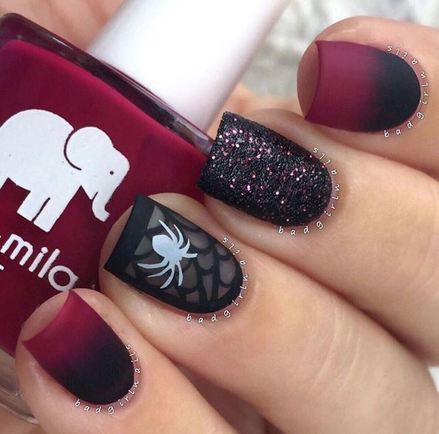 Halloween nails that you must try at halloween party 17