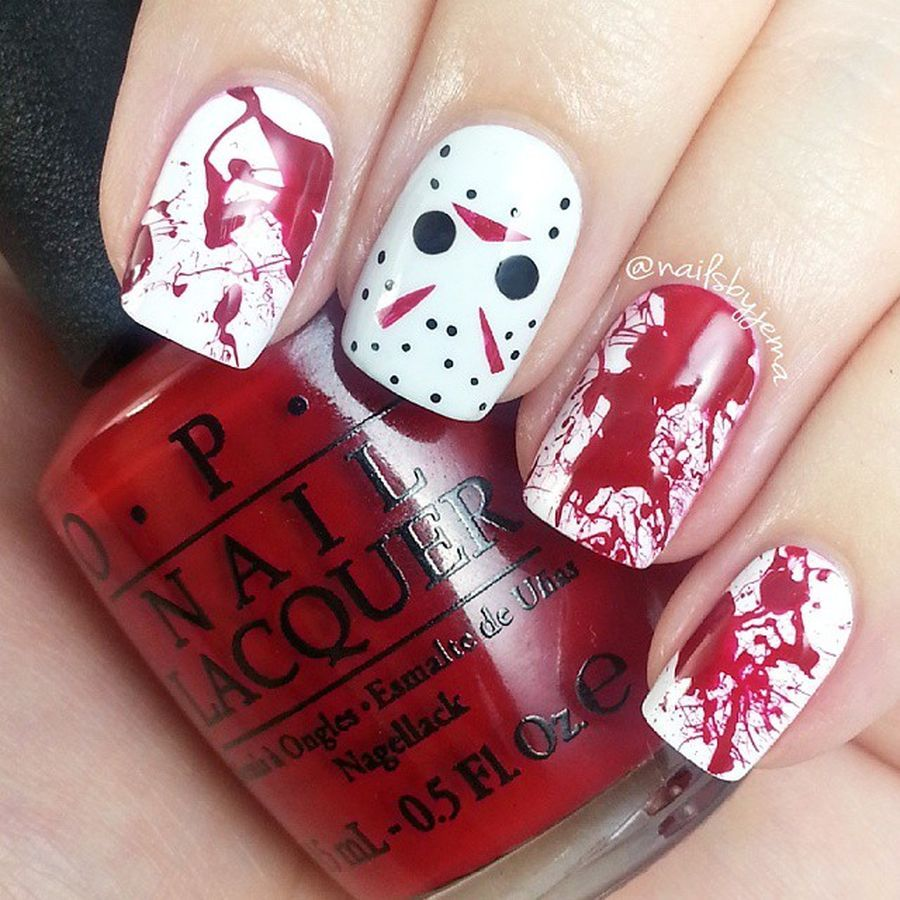 Halloween nails that you must try at halloween party 4