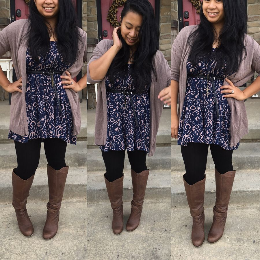 Inspiring skirt and boots combinations for fall and winter outfits 34