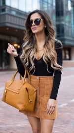 Skirt trends ideas for winter outfits this year 11