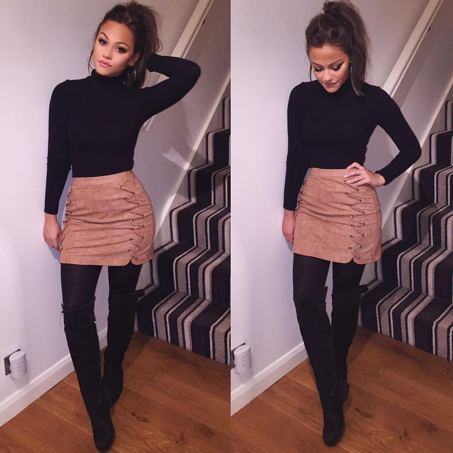 Skirt trends ideas for winter outfits this year 15