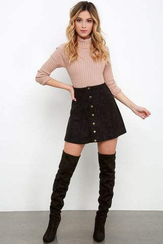 Skirt trends ideas for winter outfits this year 45