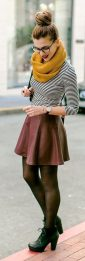 Skirt trends ideas for winter outfits this year 62