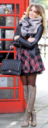 Skirt trends ideas for winter outfits this year 64