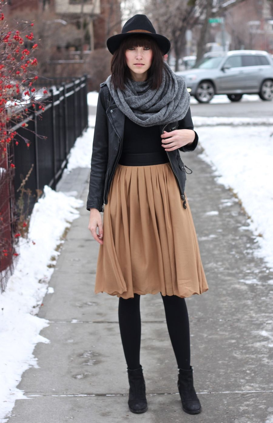Skirt trends ideas for winter outfits this year 65