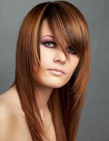 Cool hair style with feathered bangs ideas 1