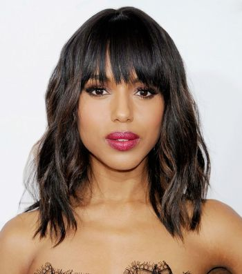 Cool hair style with feathered bangs ideas 10
