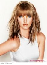 Cool hair style with feathered bangs ideas 19