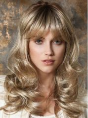 Cool hair style with feathered bangs ideas 24