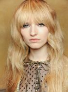 Cool hair style with feathered bangs ideas 51