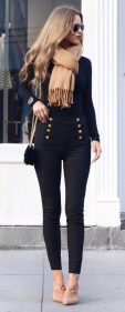 Fashionable scarves for winter outfits 72