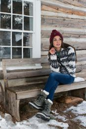 Fashionable women snow outfits for this winter 50