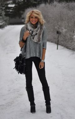 Fashionable women snow outfits for this winter 6