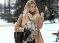 Fashionable women snow outfits