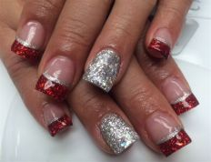 Gorgeous christmas nails ideas 102