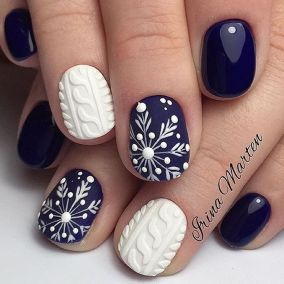 Gorgeous christmas nails ideas 111