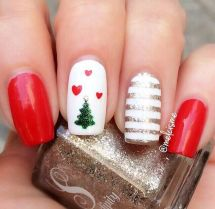 Gorgeous christmas nails ideas 113