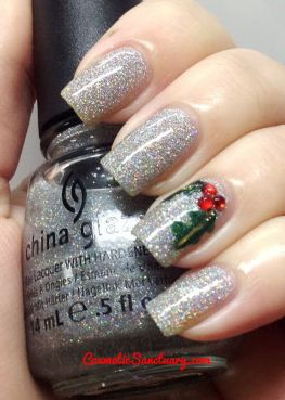 Gorgeous christmas nails ideas 123