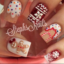 Gorgeous christmas nails ideas 125
